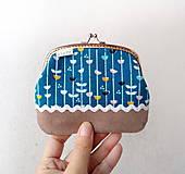 Peňaženky - Peňaženka XL Lístky a pruhy - 10536894_