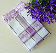 Úžitkový textil - Motýliková fialová - 10539464_