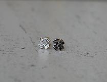 Náušnice - Štvorlístky tepané - 10542138_