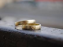 Prstene - Moje srdiečko matované žlté - 10542147_