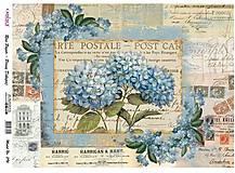 Papier - Ryžový papier A3, č. 396, hortenzie - 10541688_