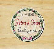 Darčeky pre svadobčanov - Svadobná magnetka - 10540432_