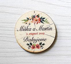Darčeky pre svadobčanov - Svadobná magnetka - 10542024_