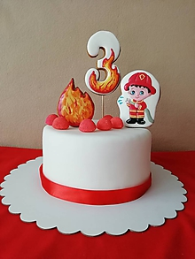 Dekorácie - Komponenty na tortu - Malý hasič - 10542652_