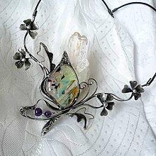 Náhrdelníky - Letní romance - luxusní sklo, ametyst - 10542105_
