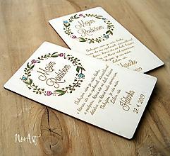 Darčeky pre svadobčanov - Poďakovanie rodičom 37 venček maľovaný - 10540832_