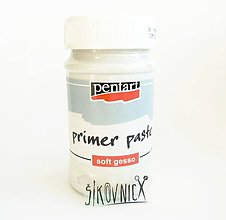 Farby-laky - Podkladová pasta, SOFT GESSO, primer, biela, 100 ml - 10540372_