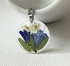 Náhrdelníky - Náhrdelník modré lúčne kvety / ZC1 - 10542674_
