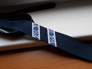 Doplnky - Folklórna kravata / slim / - 10541154_