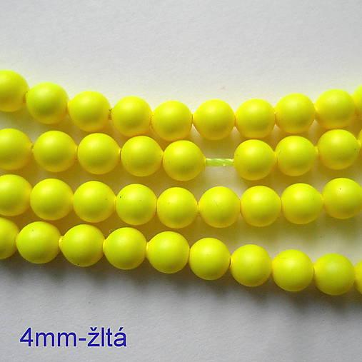 SWAROVSKI® perly 4mm-1ks (žltá)