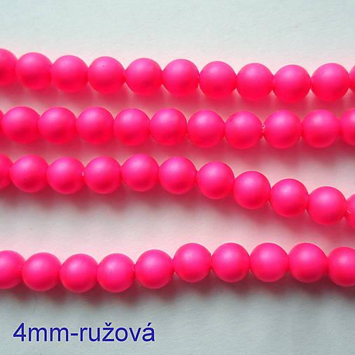 SWAROVSKI® perly 4mm-1ks (ružová ostrá)
