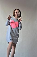 """Detské oblečenie - Teplákové balónové šaty/tunika """"mama a dcéra"""" Matylda - 10540645_"""