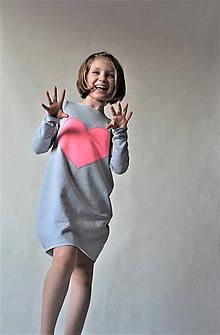 Detské oblečenie - Teplákové oversize šaty/tunika Matylda - 10540645_