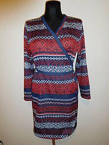 Šaty - Červeno-modro-bílé - 10542061_