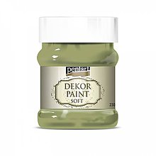 Farby-laky - Dekor Paint Soft- olivová 230 ml****** - 10542853_