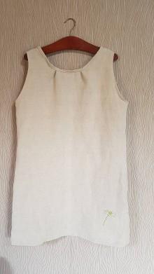 Šaty - Ľanové šaty... - 10541250_