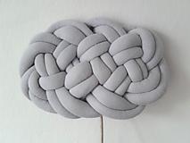 Úžitkový textil - CLOUD vankúšik  (Tmavá šedá) - 10541192_