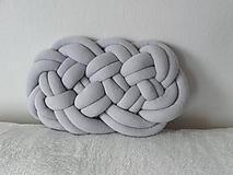 Úžitkový textil - CLOUD vankúšik  (Tmavá šedá) - 10541205_
