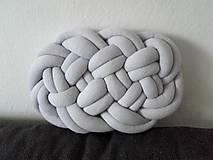 Úžitkový textil - CLOUD vankúšik  (Tmavá šedá) - 10541206_