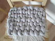 Úžitkový textil - KNOT podsedák svetlošedý - 10541408_