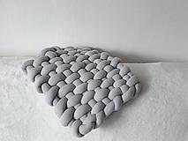 Úžitkový textil - KNOT podsedák svetlošedý - 10541410_