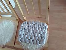 Úžitkový textil - KNOT podsedák svetlošedý - 10541411_