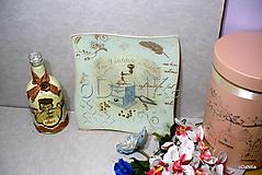 Nádoby - sklenená tácka Mlynček - ružová - 10542749_