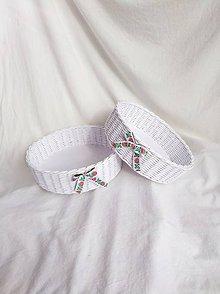 Košíky - Okrúhle svadobné košíky - 10540430_