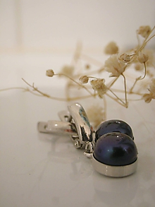 Náušnice - Dark Pearl - 10542483_