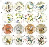 Komponenty - KA107 Kabošon vintage vtáčiky 12 mm - 10541842_