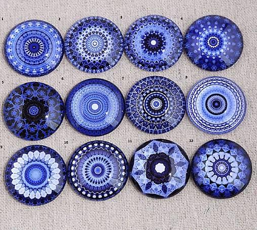 KA106 Kabošon etno modrý 12 mm