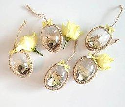 Dekorácie - Veľkonočné vajíčka 5 ks žlté - 10541433_