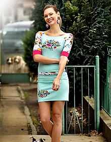 Šaty - Šaty Lana mentol - 10541712_