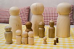 Polotovary - Drevené figúrky (tri veľkosti) - 10542906_