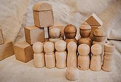 Polotovary - Drevené figúrky (tri veľkosti) - 10542938_