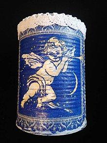 Nádoby - Dekoračná plechovka anjelik - 10540454_