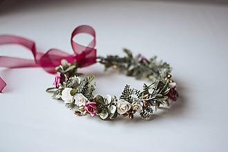 Ozdoby do vlasov - Divoký, romantický kvetinový venček - VÝPREDAJ - 10540208_