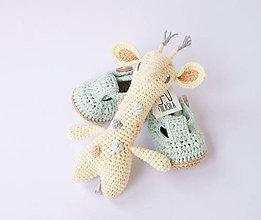 Hračky - žirafa (pastelové bodky) - 10542049_