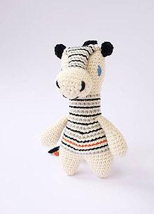 Hračky - zebra (čierna hriva) - 10542263_