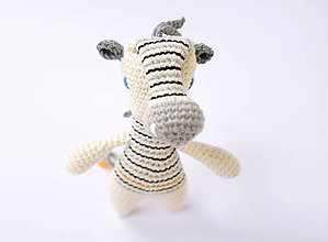 Hračky - zebra (sivá hriva) - 10542336_