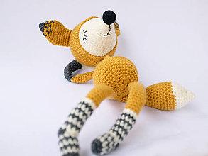 Hračky - líštička v ponožkách - spinkáčik - 10542364_