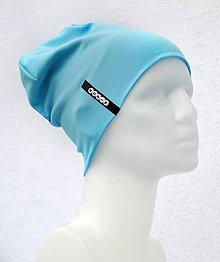 Detské čiapky - Čiapka Elastic modrotyrkis s menom - 10540445_