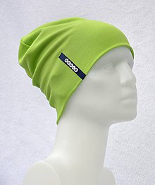 Detské čiapky - Čiapka Elastic kiwi zelená s menom - 10540472_