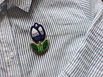 Odznaky/Brošne - Happy tulip - vyšívaná brošňa - 10540334_