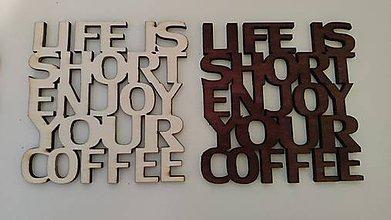 Pomôcky - Podložky pod poháre COFFE 4ks v balení (Priehľadná) - 10541469_