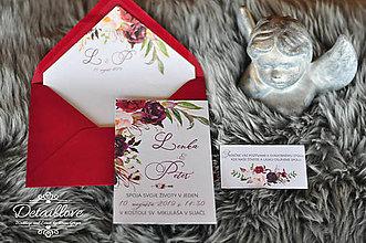 Papiernictvo - Svadobné oznámenie MARSALA - 10542646_
