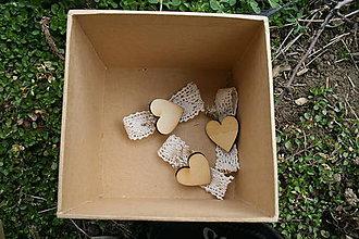 Darčeky pre svadobčanov - Pierka srdečné - 10540893_