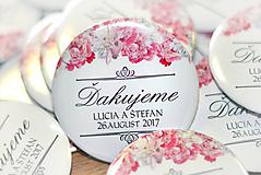 Darčeky pre svadobčanov - Buttony-magnetky - 10541991_