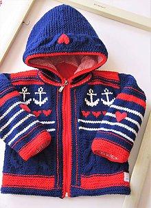 Detské oblečenie - Detská ručne pletená svetrobunda - 10542793_