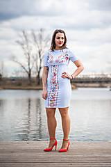 Tehotenské oblečenie - Puzdrové šaty na dojčenie 3 - 10540301_
